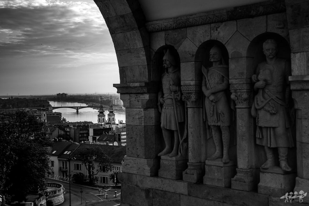 Le Danube vu depuis le bastion des pêcheurs, Budapest