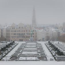 Vue du mont des arts, Bruxelles