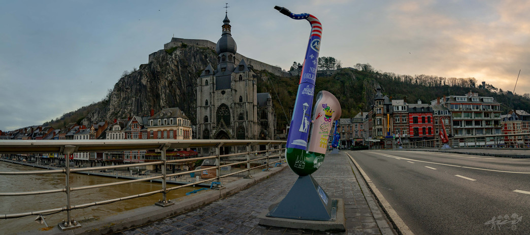 Dinant vu du Pont Charles de Gaulle