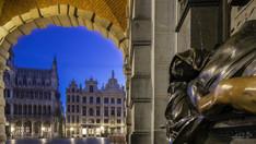 Monument à Éverard t'Serclaes, Grand-Place, Bruxelles, Wallophoto, février 2021