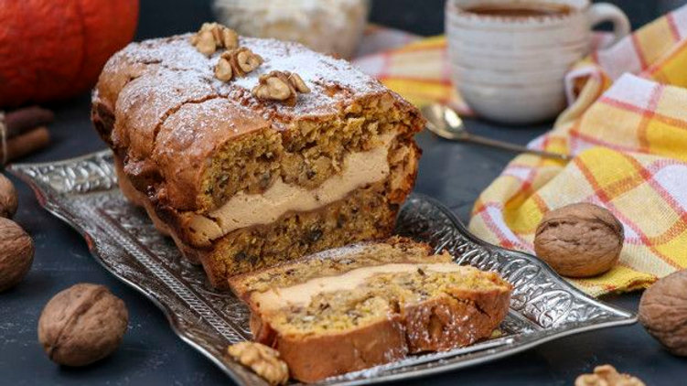 Keto Pumpkin Cream Cheese Bread, low carb
