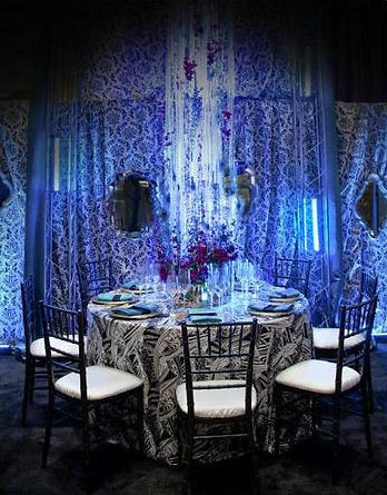 Pucci Linen, Hanging Centerpiece, Contemporary events, Black & white Damask