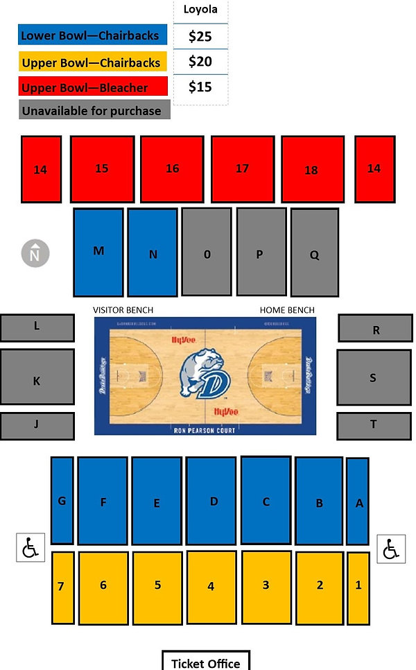 Knapp Center Seating Chart - January 202