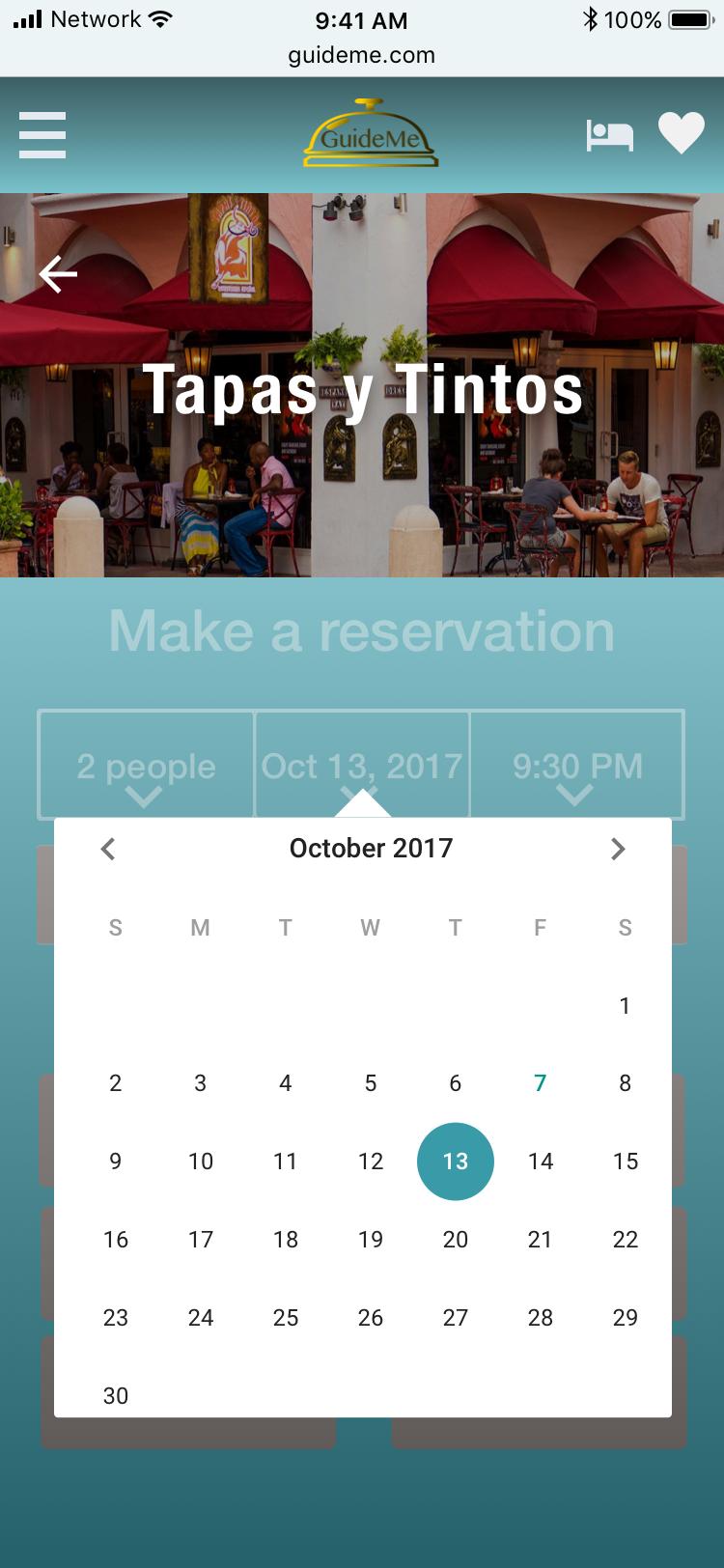 Restaurant reservation-date
