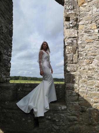wedding dress made of satin