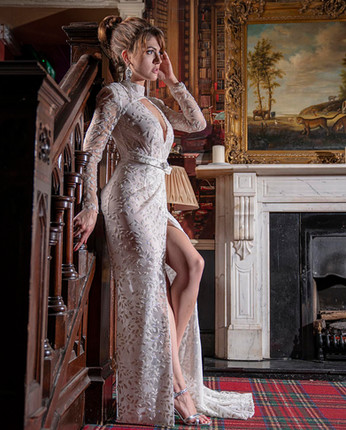 Wedding or evening gown