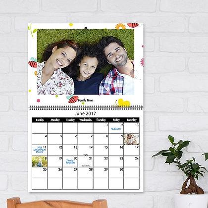 לוח שנה אישי מעוצב A4