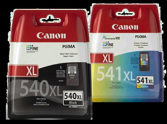 דיו שחור+צבעוני מקורי CANON 540XL+541XL