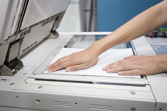 כריכות, צילום מסמכים, סריקות מסמכים ומפות