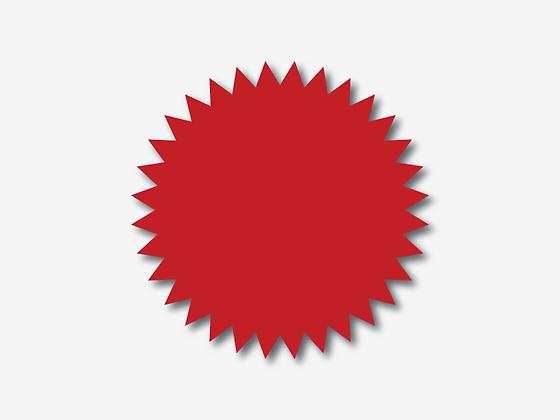 מדבקות נוטריון אדומות - 100 יח'