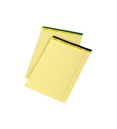 בלוק כתיבה צהוב/לבן