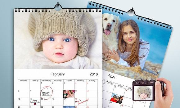 לוח שנה אישי מעוצב A3