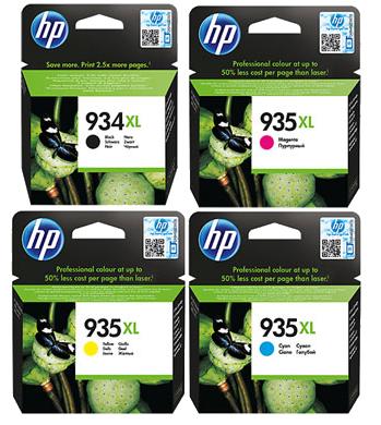HP 934XL+935XL C+M+Y סט מקורי