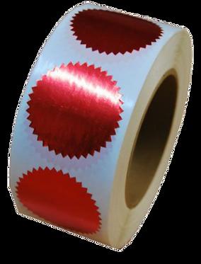 מדבקות נוטריון אדומות - 100 יח