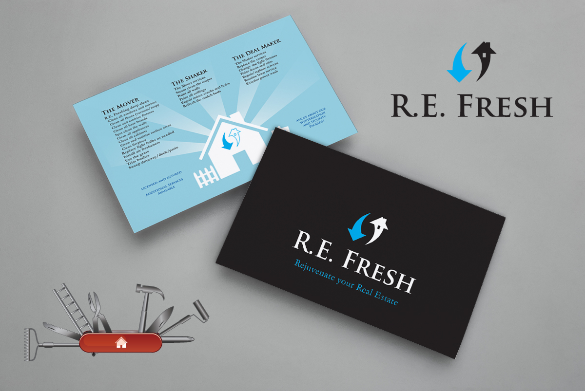 R.E. Fresh Logo and Mailer
