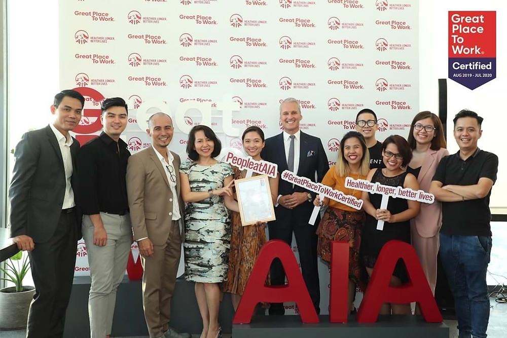 Giải thưởng Môi trường làm việc lý tưởng 2018 của AIA