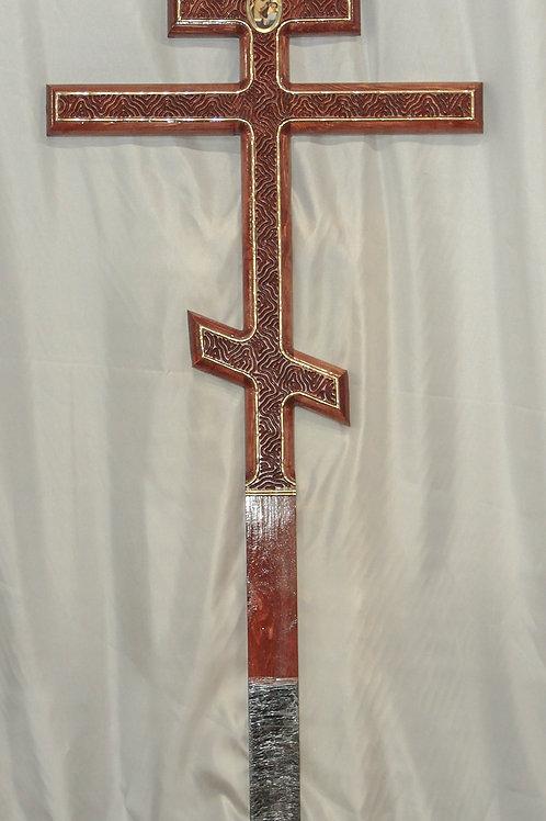 Крест прямой с гравировкой