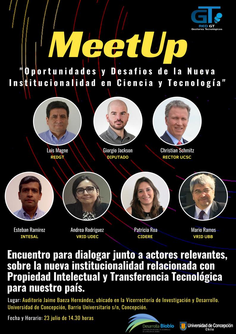 Panel MeetUP Concepción 23 de Julio 2018