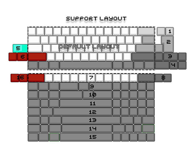Underglow Mechanical Keyboard : 5° Acrylic Case + DZ60 PCB