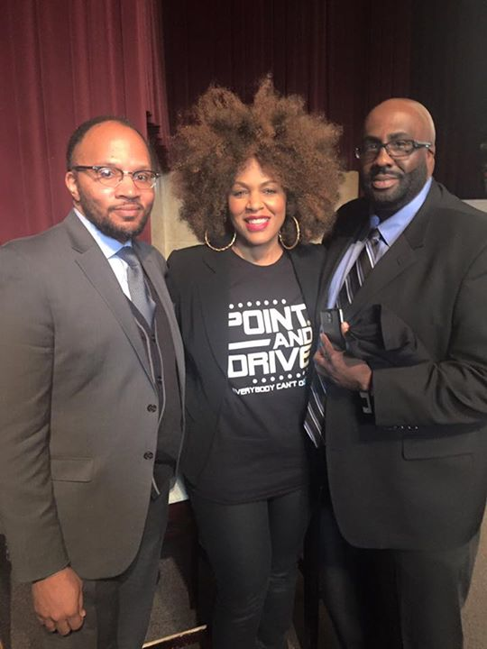 My amazing #PointAndDriveMovie panelists Sean Patton FAMU grad and #Marching100 alum and DrChristoph