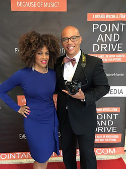 We snuck our pictures in before our guests arrive! #PointAndDriveMovie