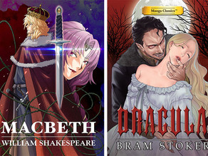 Up-Coming Titles for Fall 2018 form Manga Classics: Macbeth and Dracula