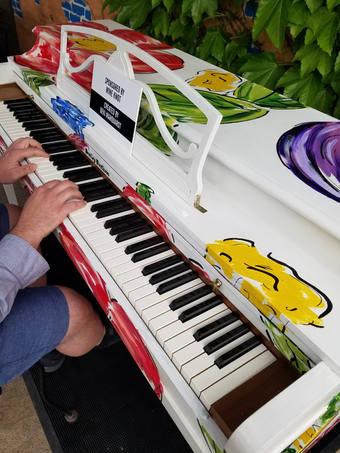 downtown art show piano