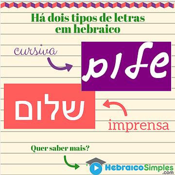 tipos de letras - fontes hebraico
