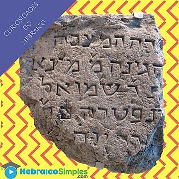 escrita em hebraico