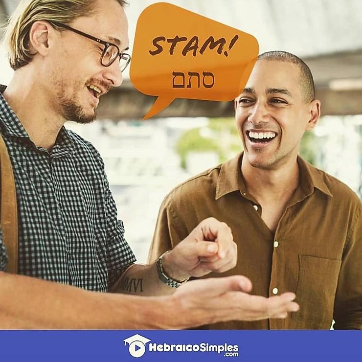 Stam pode ser usado no lugar de à toa