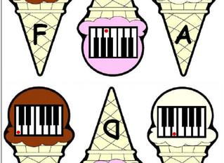 Piano Keys Ice Cream Game