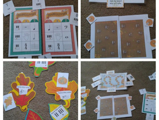 Fall and Thanksgiving Piano, Staff and Rhythm Games