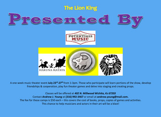 Lion King Music Theater Camp