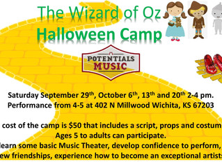 Oz camp will begin September 29th. Contact me at             (316) 992-3467 or email me for more inf