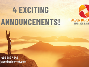 Did catch my 4 Exciting Announcements?