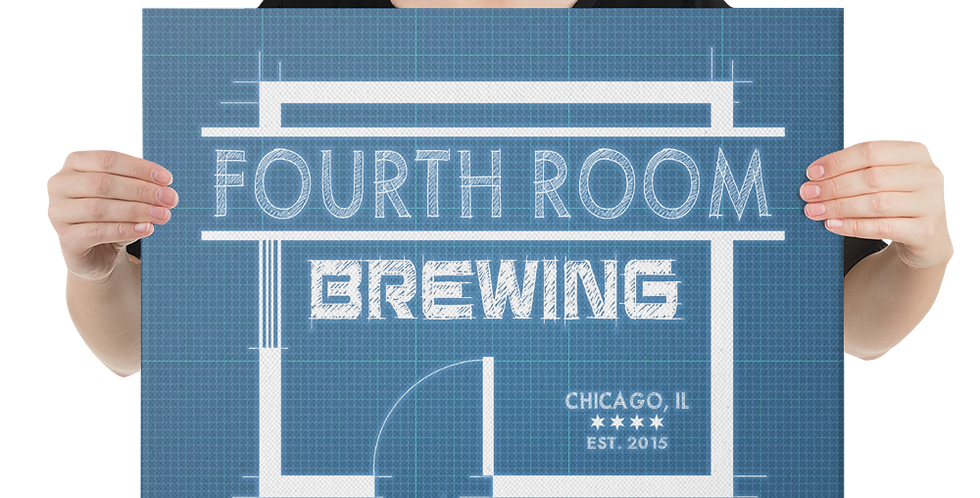 Fourth Room Brewing Logo Canvas