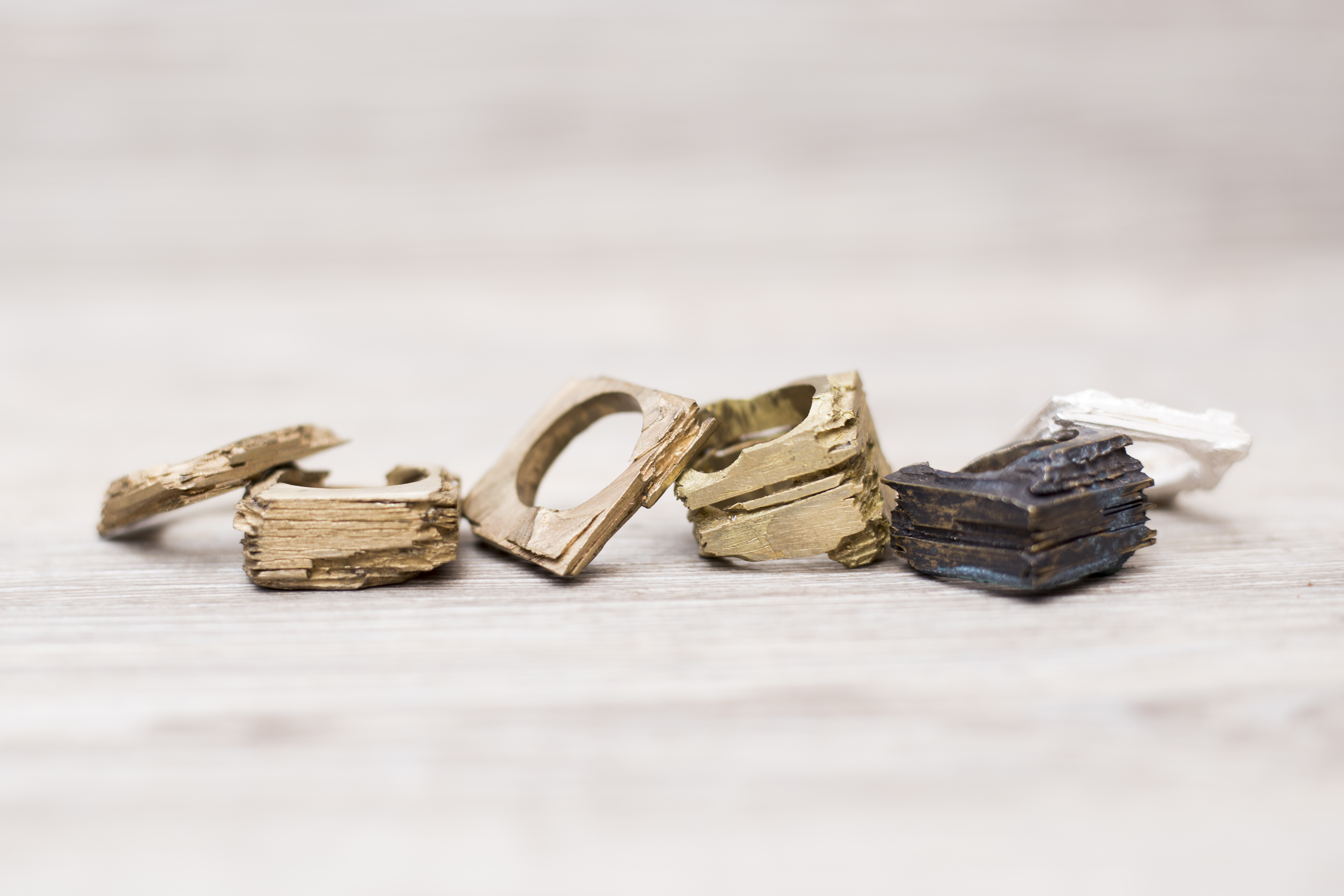 Slate rings by Kristy bujanic