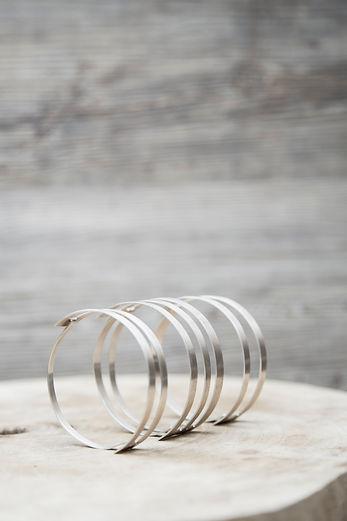 BEND (2016), sterling silver. By Kristy Bujanic