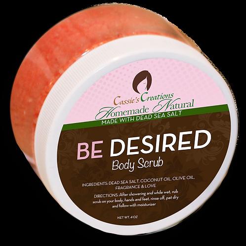 BE DESIRED Dead Sea Salt Scrub 4oz