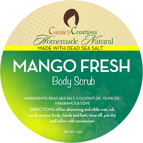 Mango Fresh Dead Sea Salt Body Scrub 4 oz