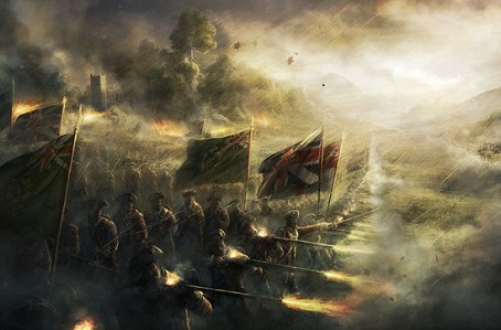 Жестокий бой, в неверных щупальцах тумана...