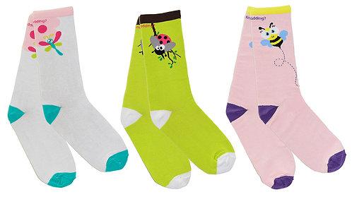 Are You Kidding 3-Pack Girl Socks