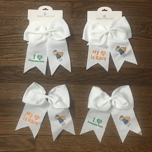 "copy of 1P36 ""My love is Rare"" Orange Themed Ponytail Bows"