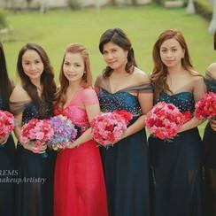 Bridesmaids Hair and Makeup Artist Tagaytay