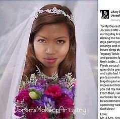 Alabang Wedding Makeup Artist | Bridal Makeup Artist | Jorems