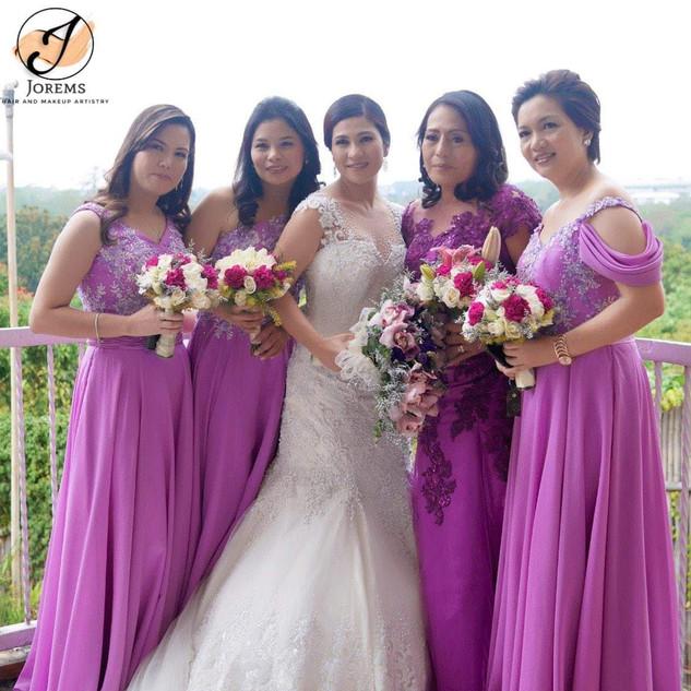 Bridesmaids Hair and Makeup by JOREMS