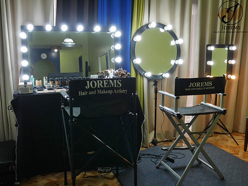 Jorems Hair and Makeup Setup - Wedding Makeup Artist Tagaytay