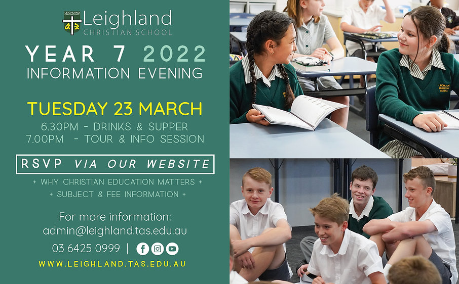 Year 7 Information Evening for 2022 flye