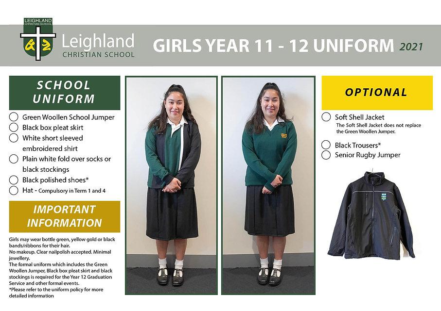 GILRS YEAR 11&12 Uniform Explanation Han