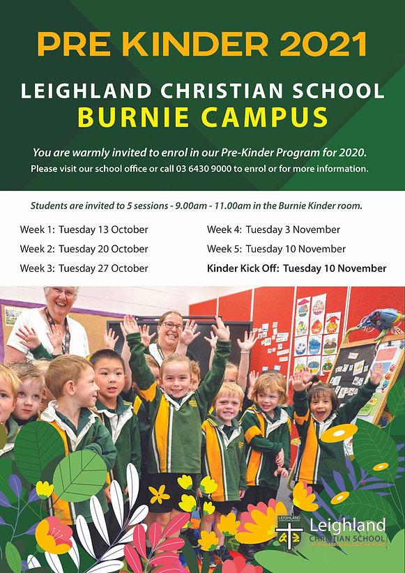 Pre-Kinder Promotional Poster or Flyer 2